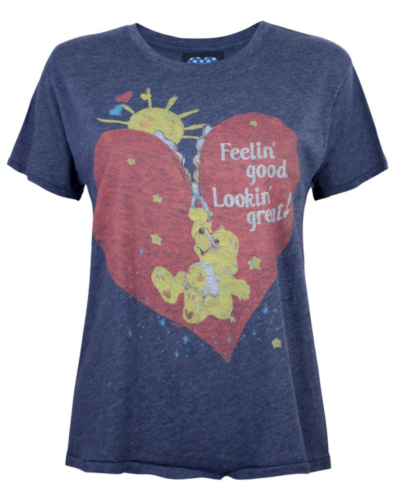 Junk Food Care Bears Feeling Good Women's Cropped T-Shirt