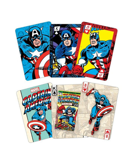 Captain America Playing Cards And Tin