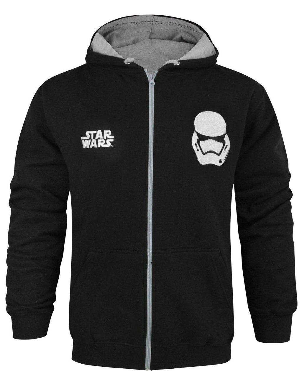 Star Wars Force Awakens First Order Stormtrooper Men's Zip Up Hoodie