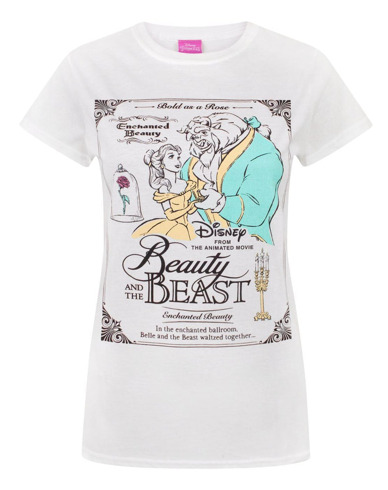 Disney Beauty And The Beast Poster Women's T-Shirt