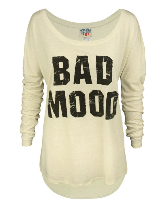 Junk Food Bad Mood Women's Long Sleeve Top