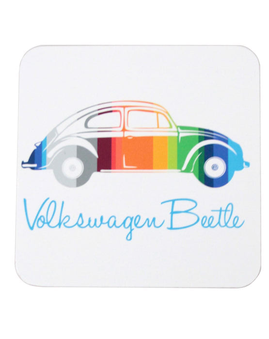 VW Beetle Striped 4 Piece Set Of Coasters