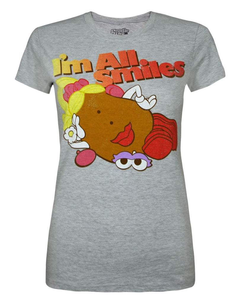 Goodie Two Sleeves Mrs Potato Head I'm All Smiles Women's T-Shirt