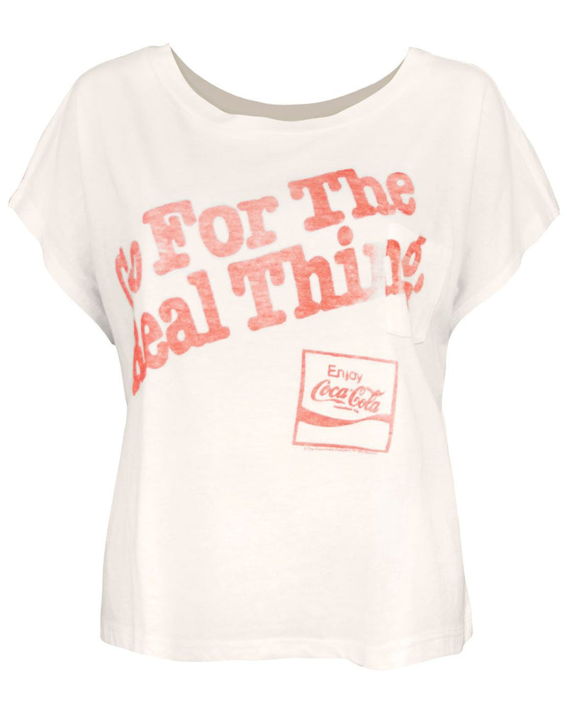 Junk Food Coca-Cola Real Thing Women's Oversized T-Shirt