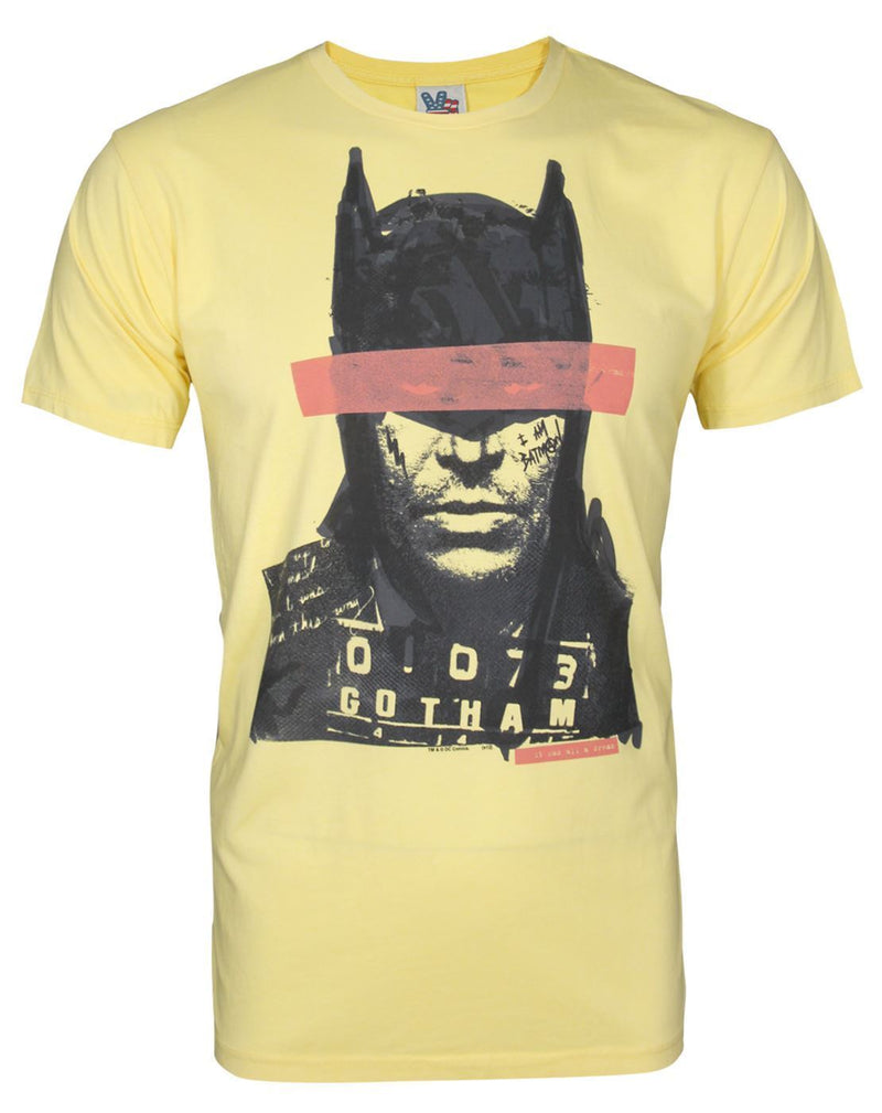 Junk Food Batman Mugshot Men's T-Shirt