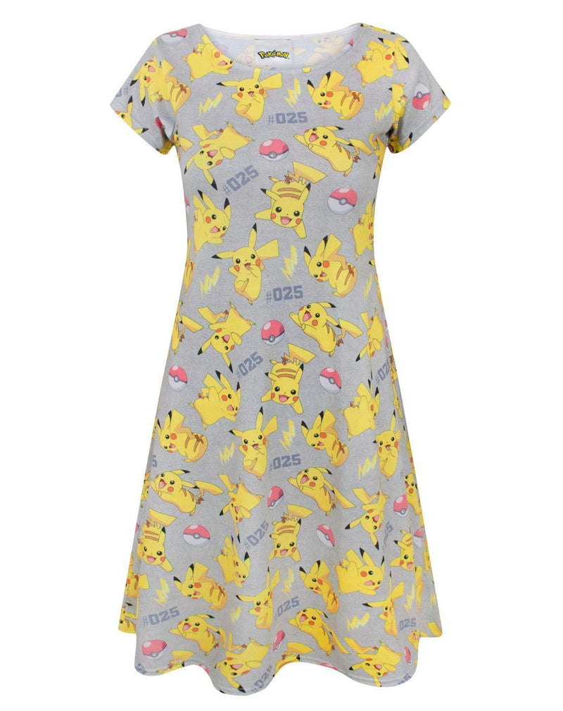 Pokemon Pikachu Women's Short Sleeved Dress