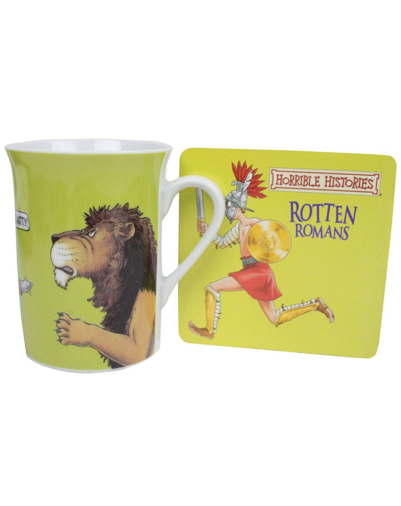 Horrible Histories Rotten Romans Mug And Coaster