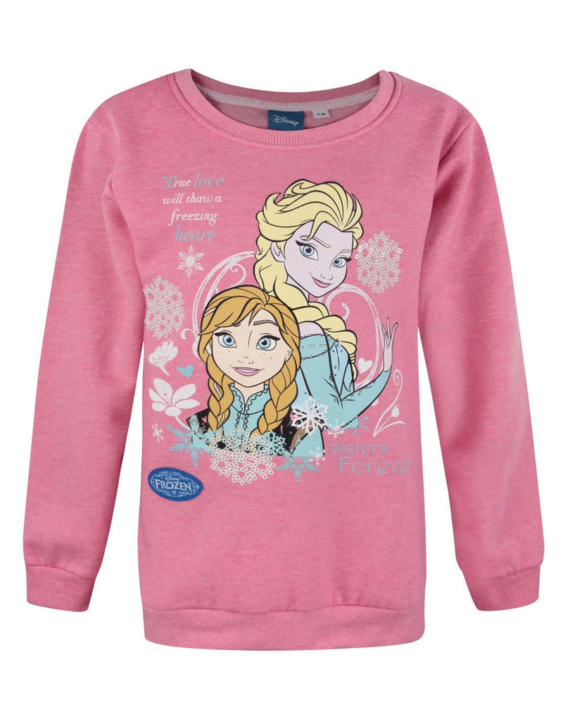 Frozen Freezing Heart Girl's Sweatshirt