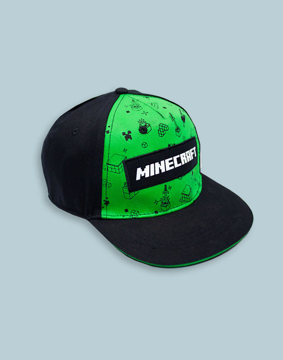 Minecraft Creeper All Over Print Boys/Youth Snapback Cap