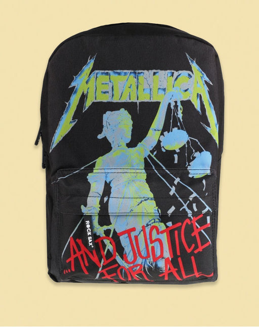 Rock Sax Metallica Justice For All Black Backpack Band Bag