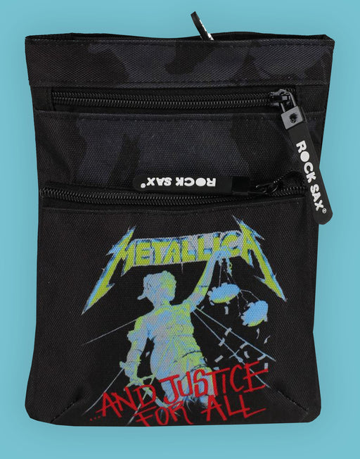 Rock Sax Metallica Justice For All Black Band Body Bag