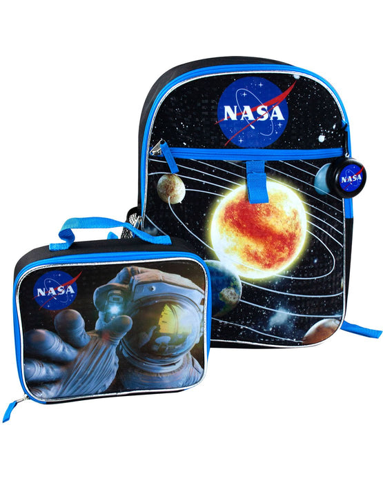 NASA Space Kid's/Children's School Bag 5 Piece Backpack Rucksack and Lunch Box Kit