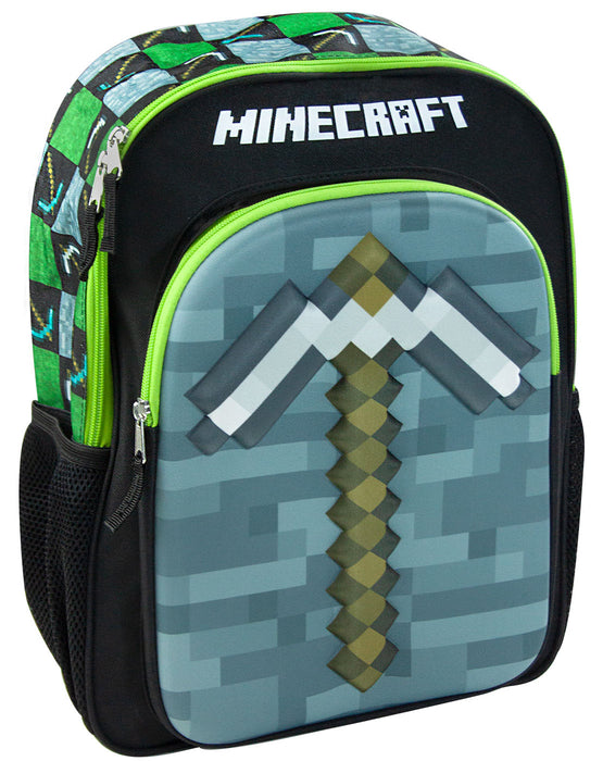 24e327dfb3ca Minecraft Moulded 3D Pickaxe Kids Backpack Children's School Bag Boys/Girls  Rucksack
