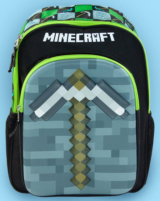 Minecraft Moulded 3D Pickaxe Backpack School Bag Rucksack