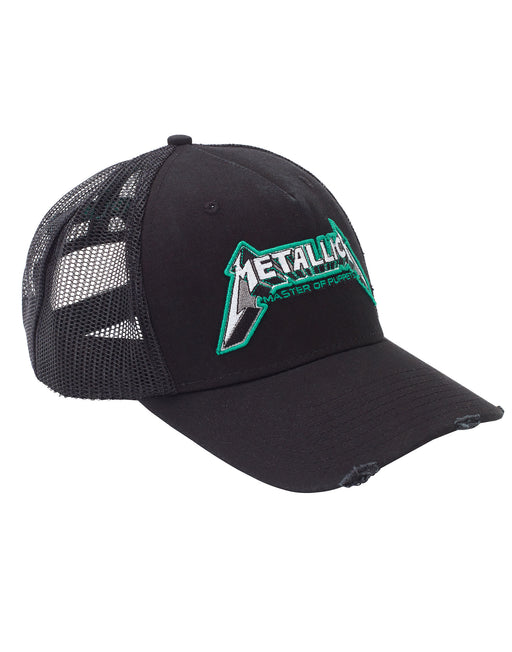 amplified clothing cap hat metallica master of puppets logo stacked trucker snapback mens mans womans adults heavy metal james hetfield