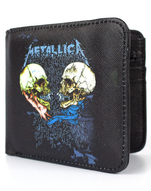Rock Sax Metallica Band 1993 US Single Sad But True Album Music Thrash Heavy Metal Wallet Money Holder Coins Notes Cards Official Band Merch Unisex Adults Unisex Kids Men's Women's Boys Girls