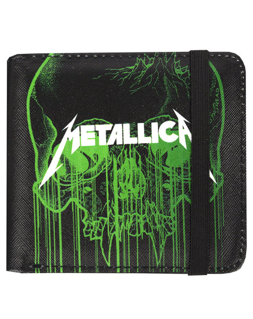 Rock Sax Metallica Skull Band Album Music Rock Heavy Metal Pop Wallet Money Holder Coins Notes Cards Official Band Merch Unisex Adults Unisex Kids Men's Women's Boys Girls
