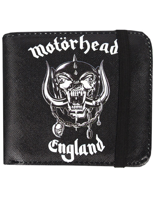 Rock Sax Motörhead MH England Warpig Rock British Heavy Metal Speed metal Logo Wallet Money Holder Coins Notes Cards Official Band Merch Unisex Adults Unisex Kids Men's Women's Boys Girls