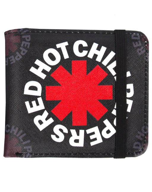 Rock Sax Red Hot Chilli Peppers Asterisk Logo Rock Band Music History Wallet Money Holder Coins Notes Cards Official Band Merch Unisex Adults Unisex Kids Men's Women's Boys Girls