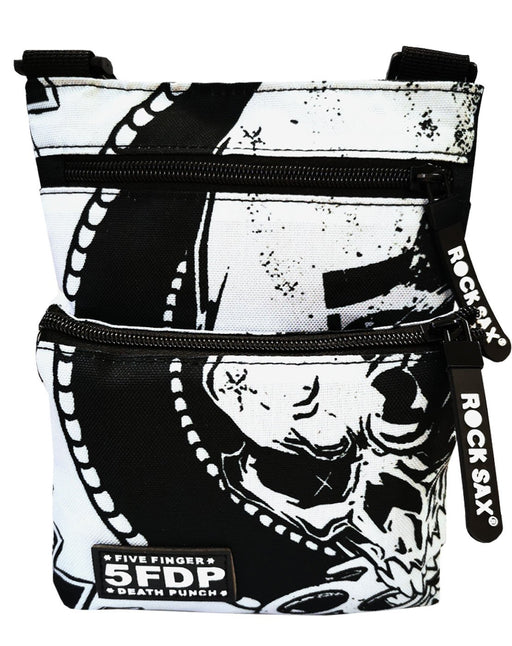 Rock Sax Five Finger Death Punch American Heavy Metal Band The Way of the Fist 2007 Album Artwork Bag Body Bag Essentials Carry Bag Luggage Merchandise Zip Up Unisex Adults Kids