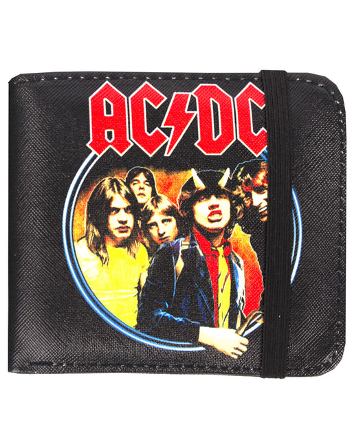 Rock Sax AC/DC Highway To Hell Lightning Logo Australian Rock Band Music Rock 'N' Roll Wallet Money Holder Coins Notes Cards Official Band Merch Unisex Adults Unisex Kids Men's Women's Boys Girls