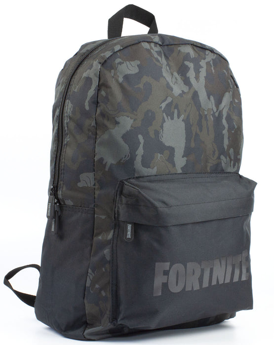 Official Fortnite Character Emote Camo Llama All Over Print Black/Khaki Backpack