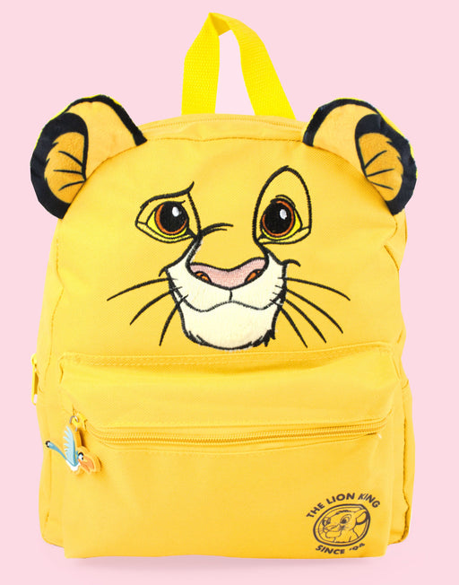 Disney Lion King 3D Simba Cub Face Yellow Backpack