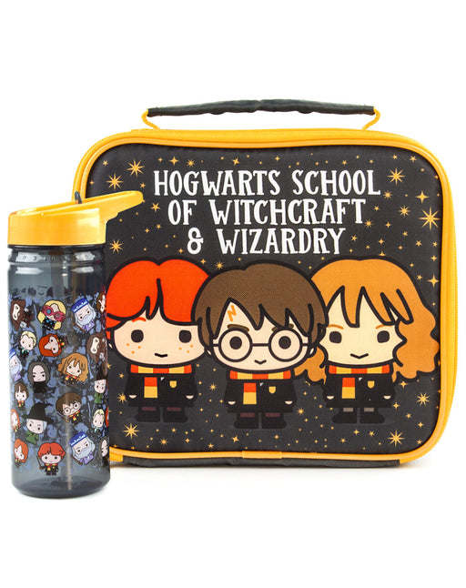 Harry Potter Chibi Character Lunch Bag and Bottle Set - Black