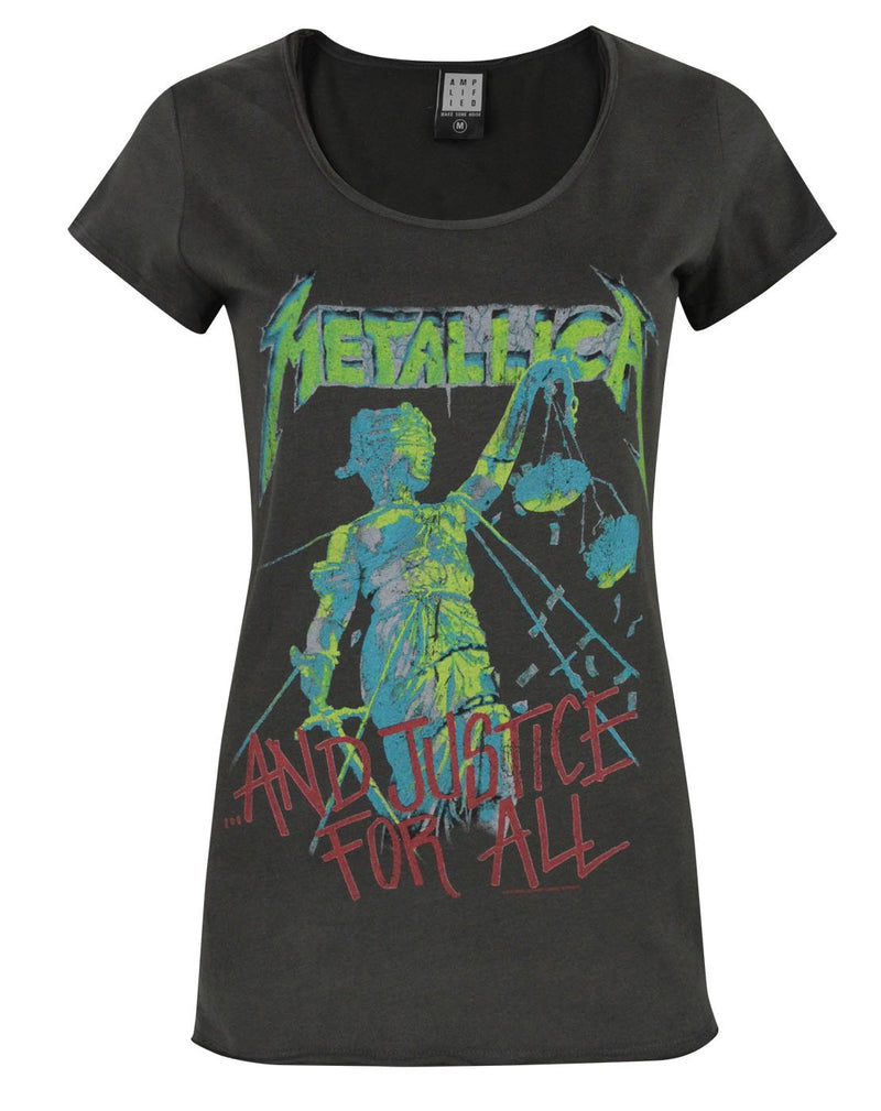 Amplified Metallica Justice For All Women's T-Shirt