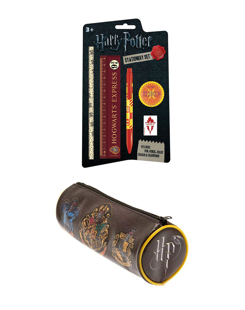 Harry Potter 5 Piece Stationary Pack and Hogwarts Pencil Case Set