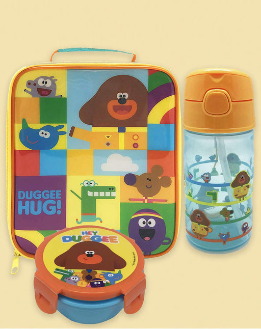 Hey Duggee The Squirrel Club Characters Lunch Bag, Drinks Bottle and Snack Pot Set
