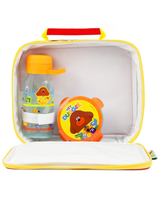 Hey Duggee Lunch Bag, Bottle and Snack Pot Kids Set