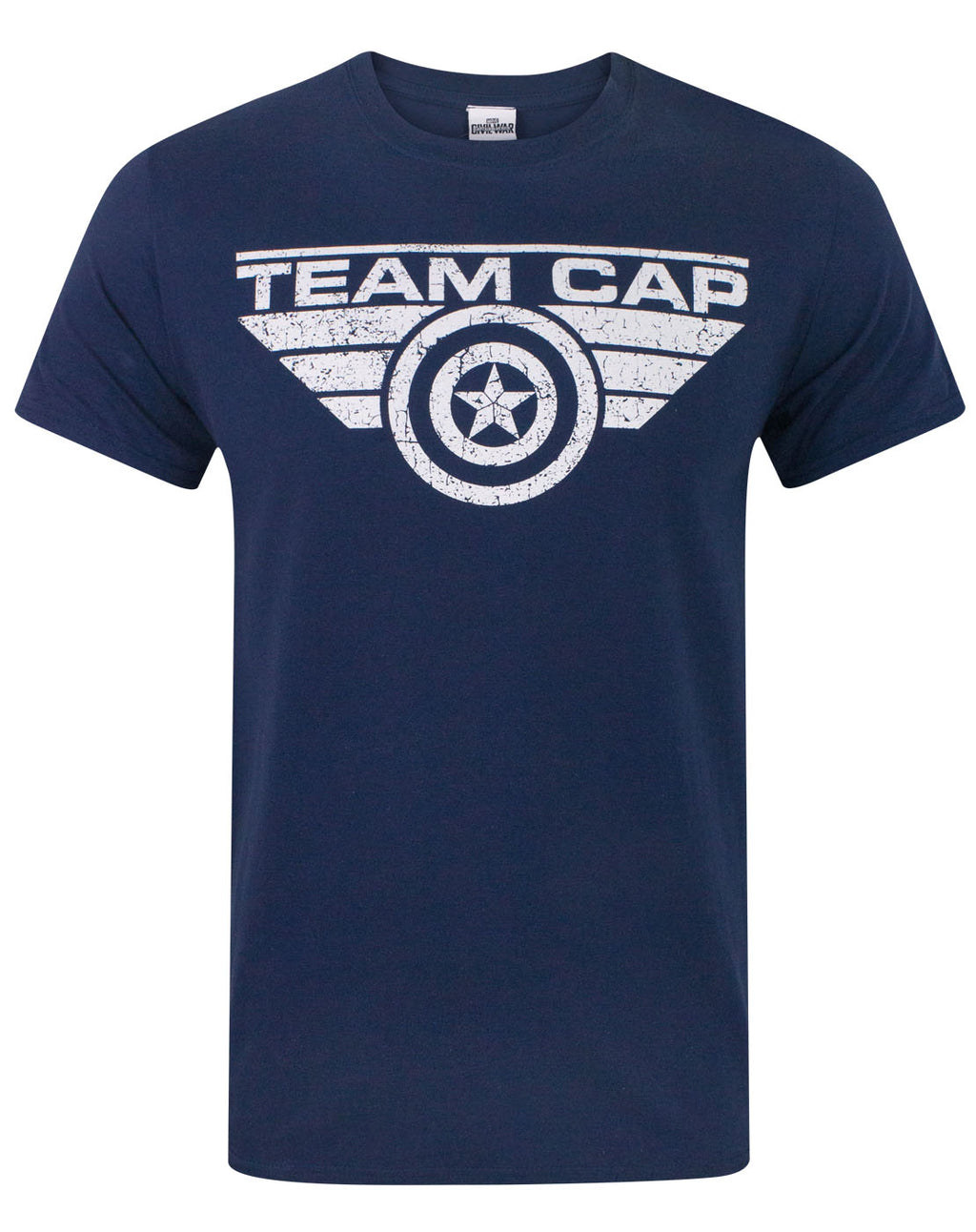 Captain America Civil War Team Cap Distressed Men's T-Shirt