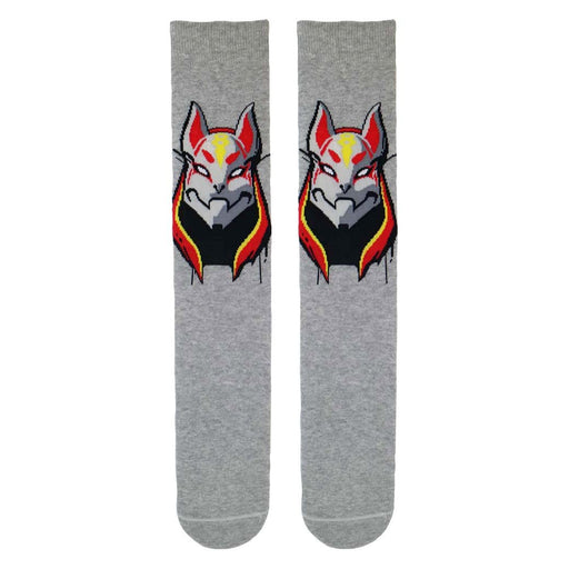 Fortnite Drift Cat Mask Boys/Men's Grey Socks Sizes 9 UK Kids to 11 Adults