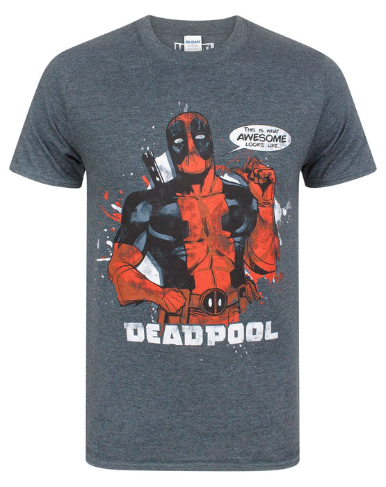 56b4a020 Marvel Deadpool This is What Awesome Looks Like Men's T-Shirt — Vanilla  Underground