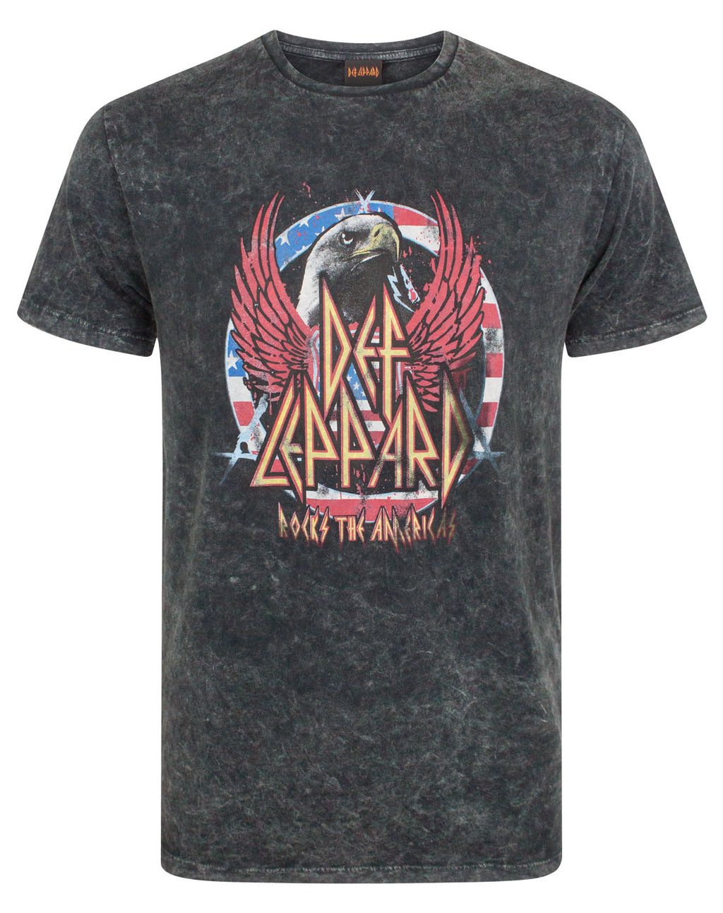 Def Leppard Men's Acid Wash T-Shirt