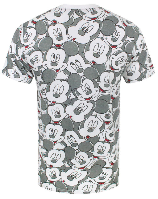 Disney Mickey Mouse Face All Over Print Men's T-Shirt