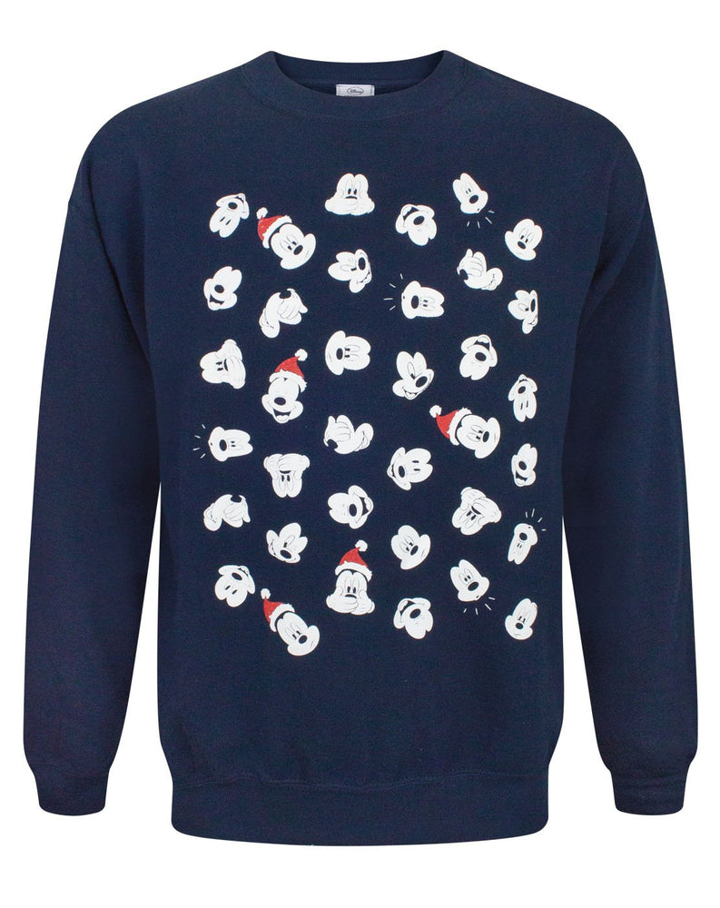 Disney Mickey Mouse Faces Christmas Sweatshirt