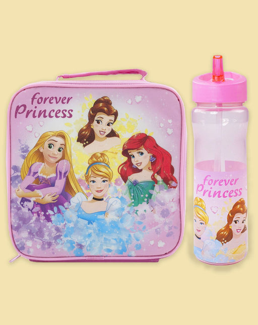 Disney Princess Forever Princess Lunchbox Bag and Water Bottle Bundle Set