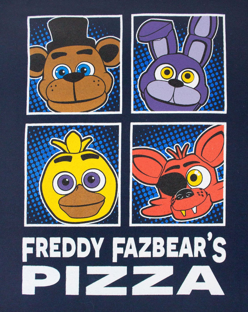 Five Nights at Freddy's Panels Navy Boy's Hoodie