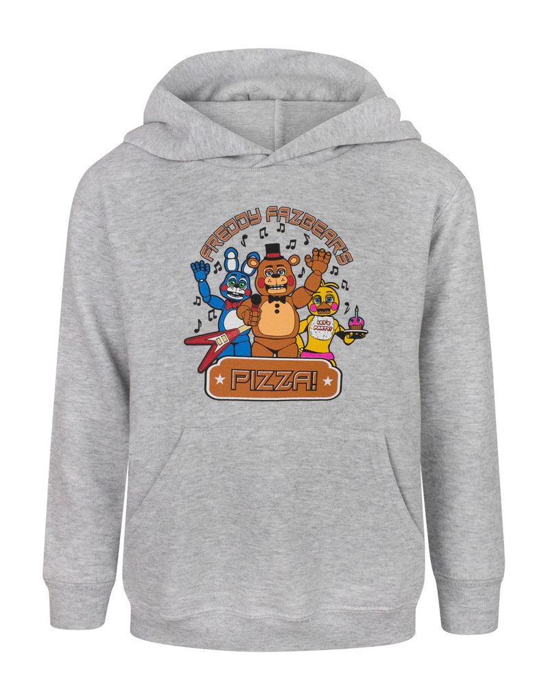 Five Nights At Freddy's Pizza Boy's Grey Marl Hoodie