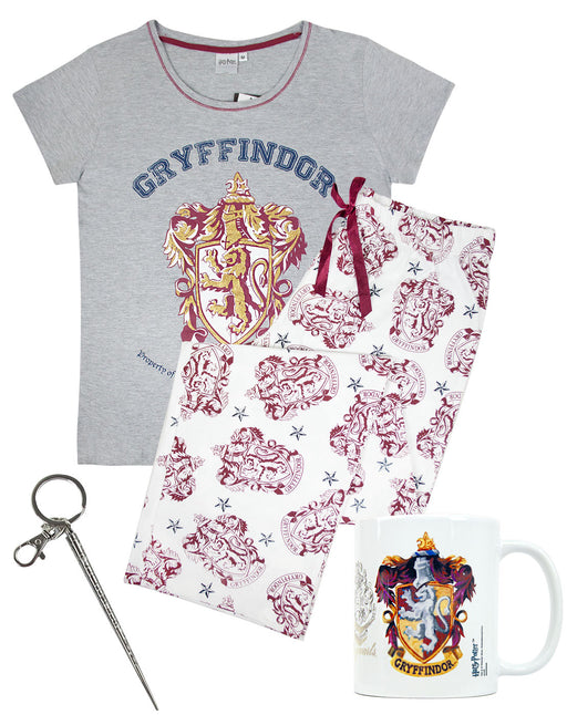 Harry Potter Gryffindor Hermione Women's PJs Mug Keyring Gift Bundle Set