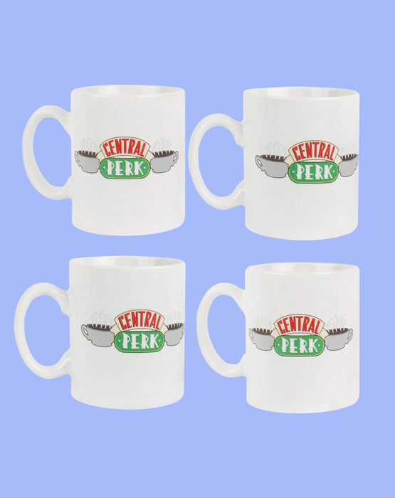 Friends Central Perk TV Series White Espresso Mugs 4 Cup Set