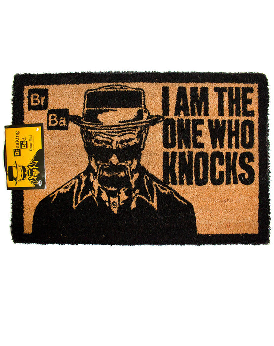 Breaking Bad I Am The One Who Knocks Door Mat Vanilla Underground