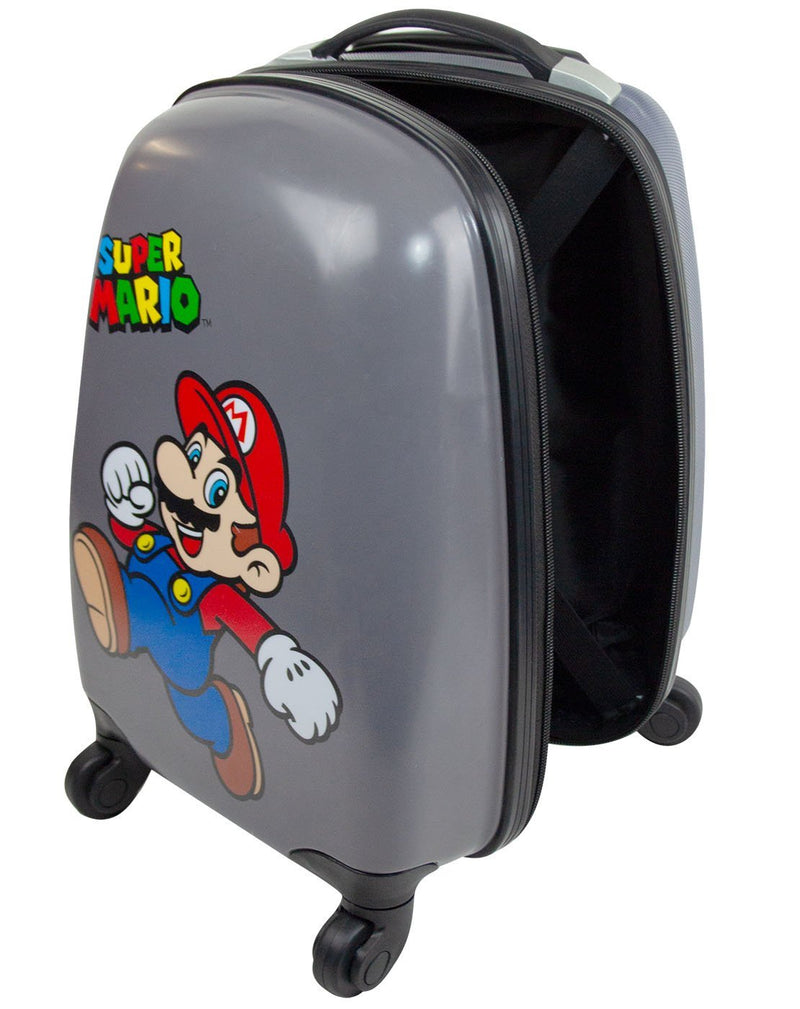 Super Mario Kids Hard Cover Carry On Trolley Suitcase 35x26x20cm