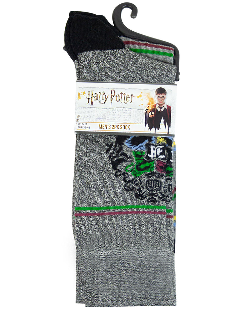 Harry Potter Crest Men's 2 Pack Socks