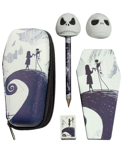 The Nightmare Before Christmas Jack Skellington Mini Coffin Stationary Case Set
