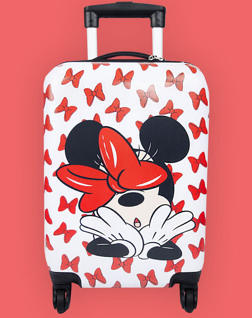 Disney Minnie Mouse Hard Cover Carry on Trolley Suitcase Luggage 53.5cmx33cmx22cm