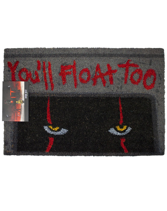 "Stephen King's IT Pennywise the Clown ""You'll Float Too"" Door Mat"