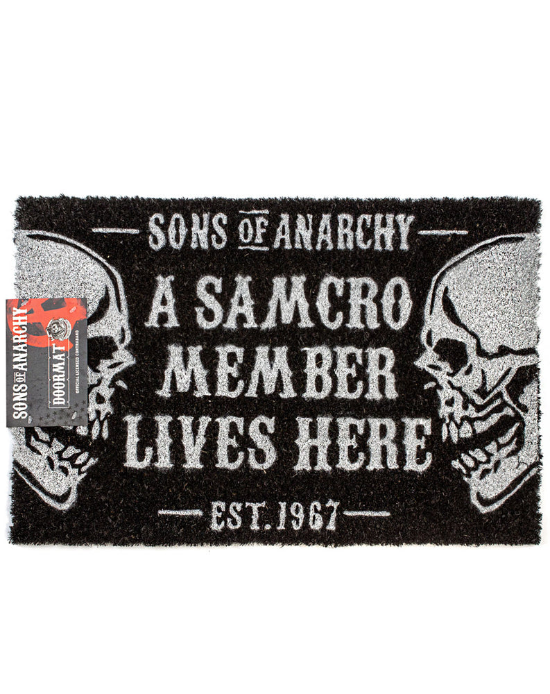 Sons Of Anarchy SAMCRO Door Mat 60x40cm - Black